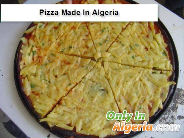 Pizza made in algeria
