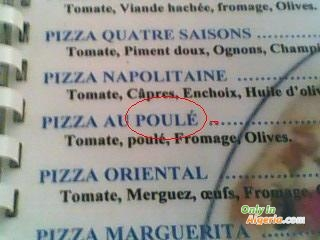 Pizza au poulé