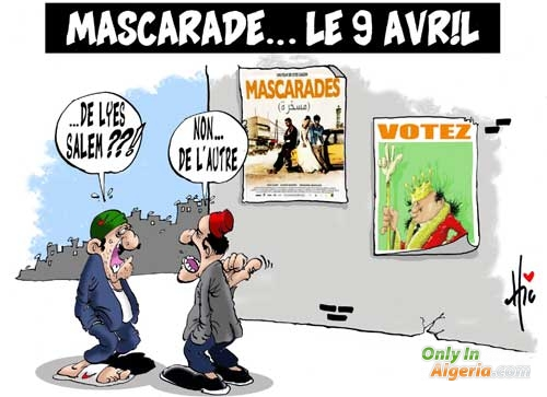 Mascarade... le 9 avril